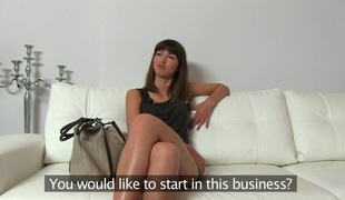 Suzanna (44 mins)  Suzanna has a really good look apropos a very mischievous smile that let`s u know that babe`s thinking messy thoughts behind her virginal face. This Babe is currently working in a bar and is not cheerful `cuz it`s lengthy hours and not