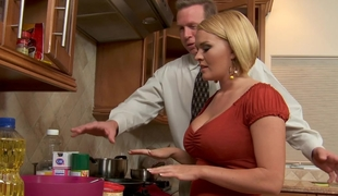 Krissy Lynn is trying to assist Mark