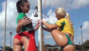 Sporty lesbians Molly and Tifani